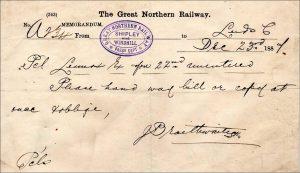 Archive: Shipley memorandum