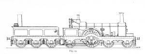 Bird Illustration of a No. 215 prototype locomotive