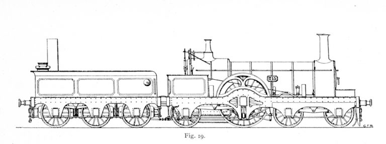 Bird Illustration of a No. 215 prototype locomotive
