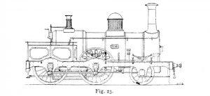 Bird Illustration of Passenger locomotives 216 and 217