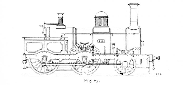 Bird Illustration of Passenger locomotives 216 and 217