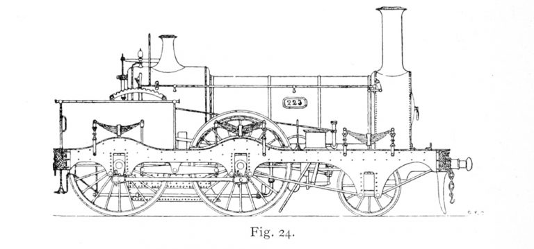 Bird Illustration of a 223 Class locomotive