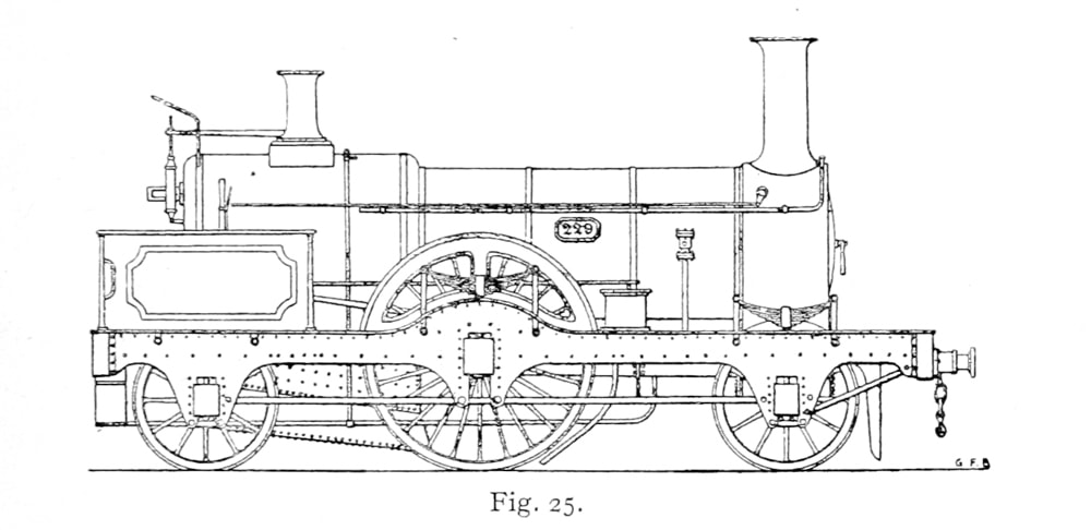 Bird Illustration of a 229 Class 7ft Single