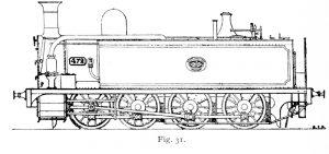 Bird Illustration of an Avonside Tank Engine