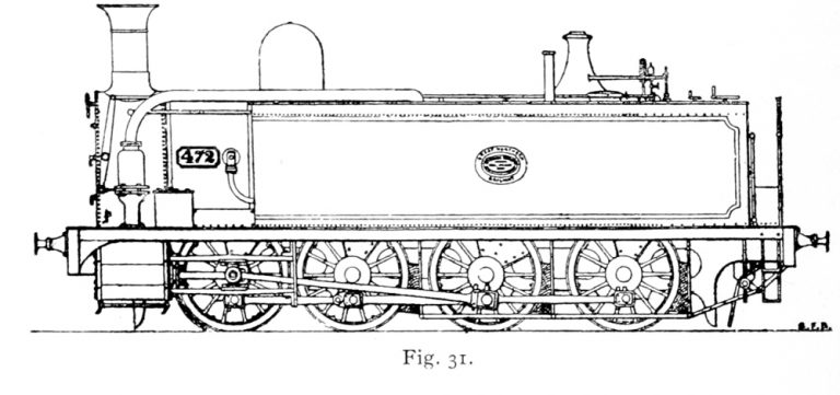 Bird Illustration of an Avonside Tank Engine