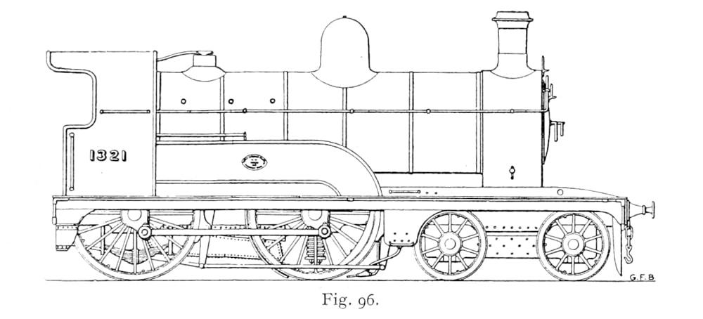 Bird illustration of a D1 class locomotive