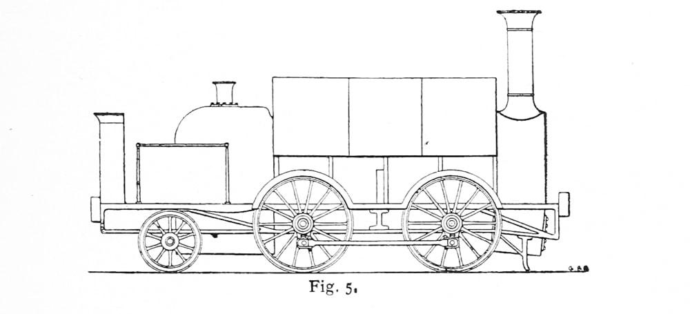 Bird Illustration of modified Bury Goods loco