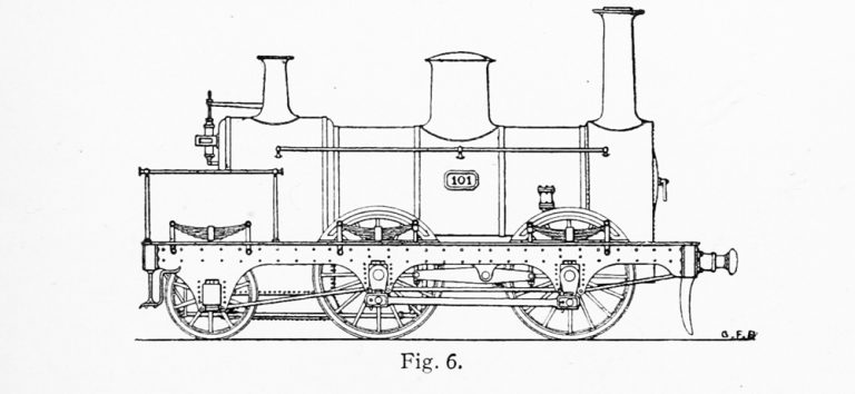 Bird Illustration of a Hawthorne Goods Locomotive