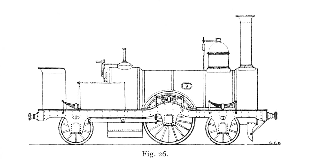 Sharp locomotive converted to tank