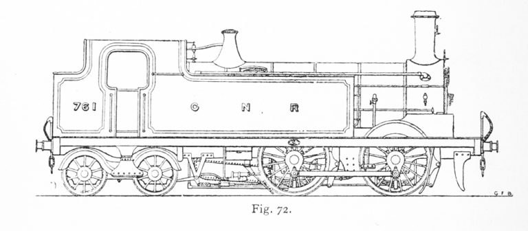 Line drawing of a G2 locomotive
