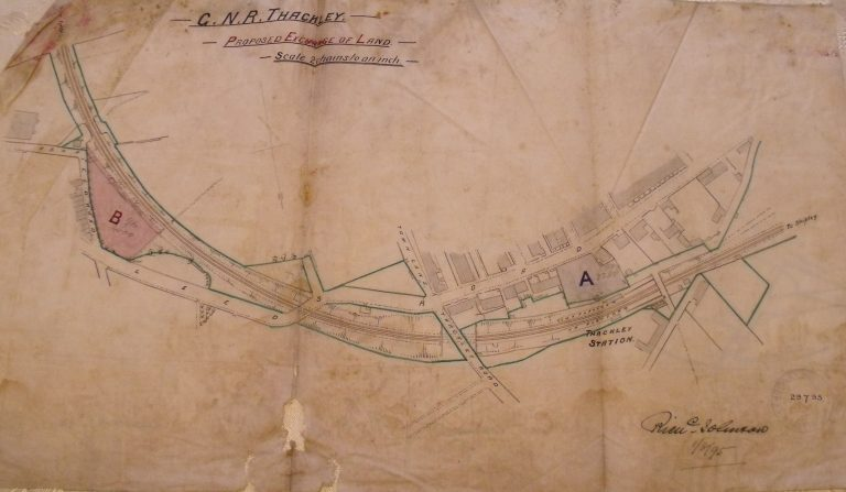 1895 plan signed by Richard Johnson re exchange of land at Thackley