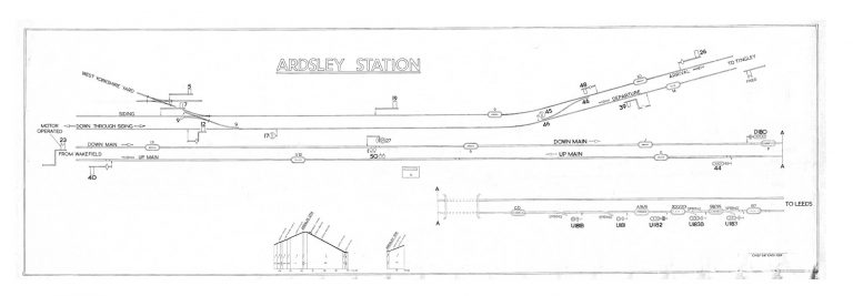 GNR Ardsley Station Diagram