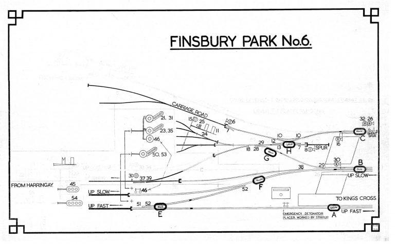 GNR Finsbury Park No 6 Diagram